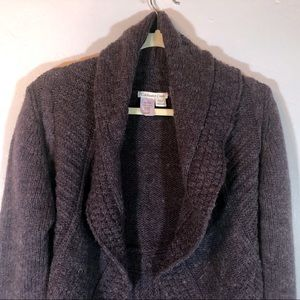 Coldwater Creek eggplant color cardigan sweater
